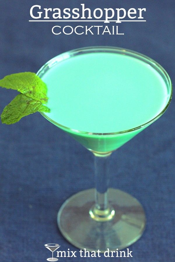 The Grasshopper cocktail is an old classic that's very sweet and very simple. It tastes like a chocolate mint milkshake, doesn't have much of a kick, and originated in the French Quarter of New Orleans.