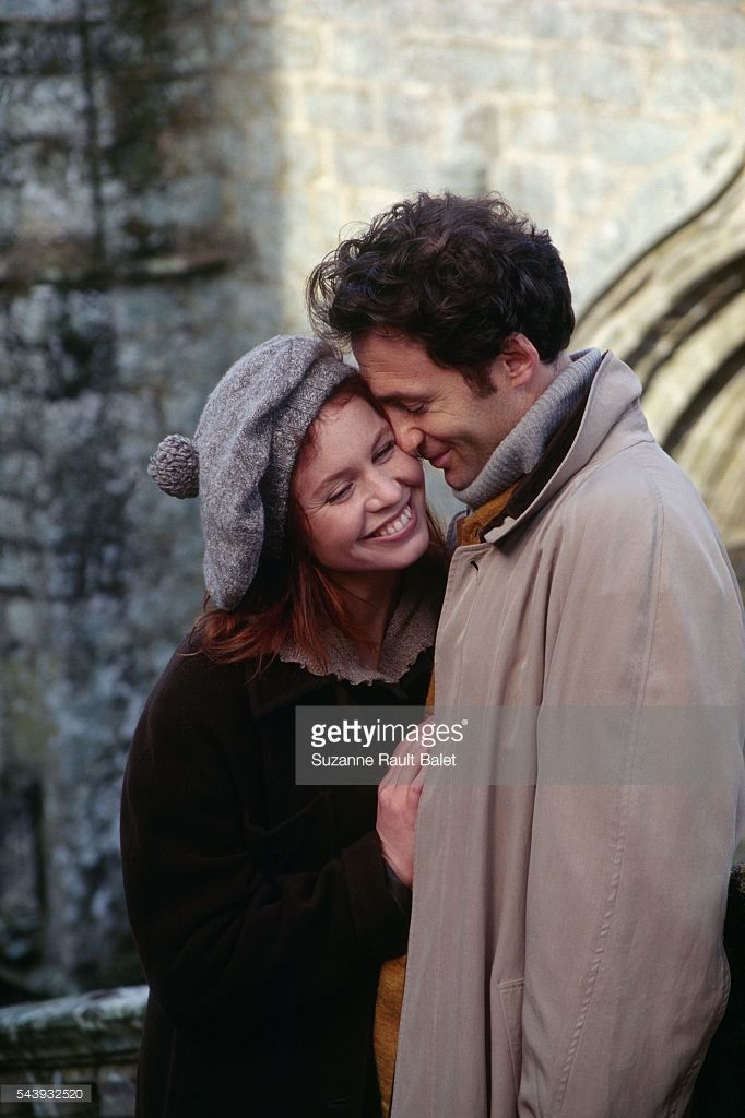 French actors and real-life couple Carole Richert and Daniel Rialet at Le Faouet in Brittany. | Location: Le Fouet, France.