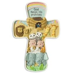 Noah's Ark Cross. a perfect illustration that God Keeps His Promises, reminding us to do our part, knowing God will do His.$25.95
