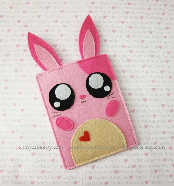 iPad Mini case Pink Bunny Nook sleeveNook caseNook от ohmycake
