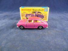 Matchbox Superfast MB 67 a Volkswagen 1600TL Metallic Candy Pink Narrow wheels