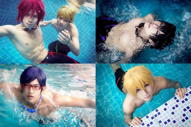 Haruka, Rin, Nagisa and Rei, Free! | NearRoCasu - WorldCosplay Holy Moly i can't stop looking.......
