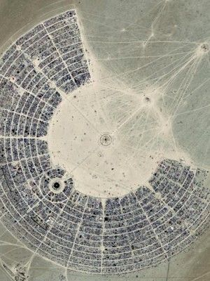 Black Rock desert, Nevada - a city of 50,000 people for one week# festival of Burning Man