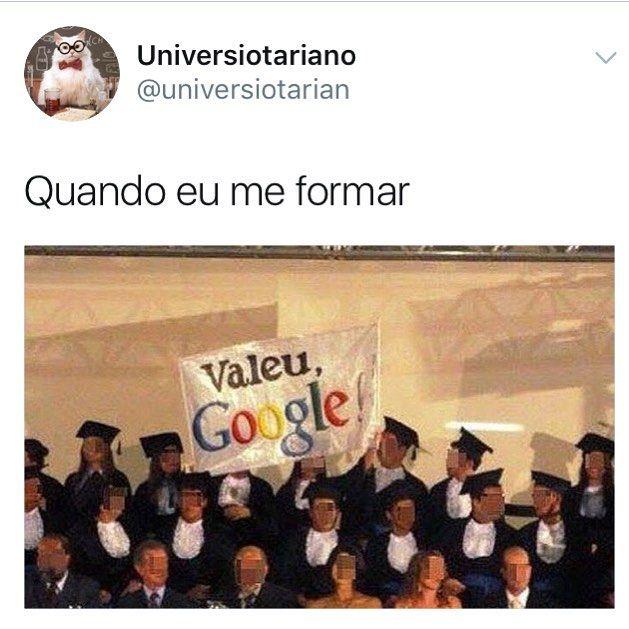 """8,154 curtidas, 126 comentários - Universiotariano (@universiotariano) no Instagram: """"Google salvando a vida dos universitários ❤️"""""""
