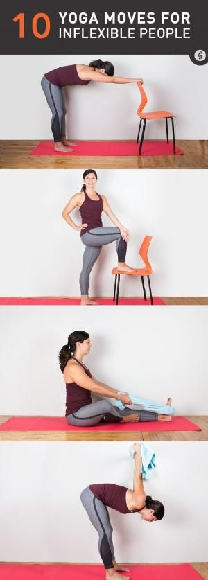 The 10 Best Yoga Moves for Inflexible People #yoga #stretching #fitness by keigh