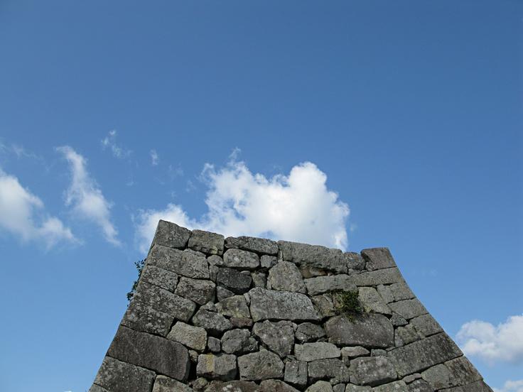 The stone wall of the Sasayama Castle.  In the Sasayama city.