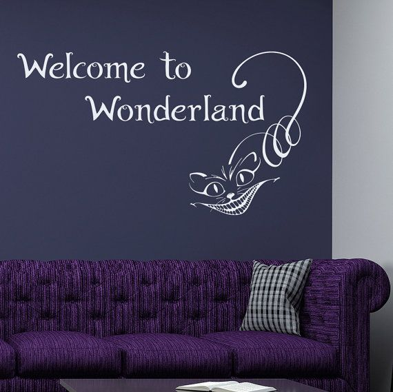 Quote welcome in wonderland wall decal alice in by lollipopdecals
