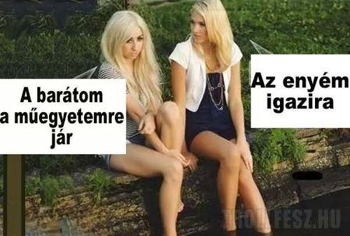 2 szőke beszélget - Poénos képek - Poénkupac - vicces képek, humoros videók magazin - Hotdog.hu