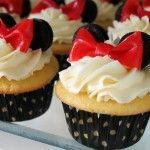Decoración de cupcake de Minnie Mouse