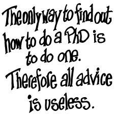 The only way to find out how to do a PhD is to do one. Therefore all advice is useless.