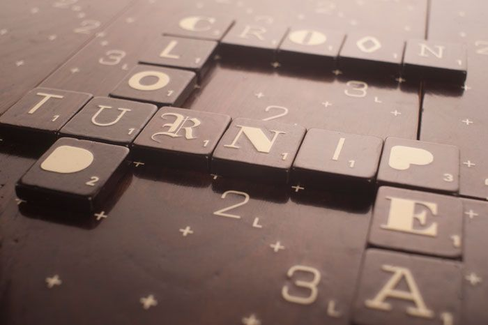 scrabble typography!