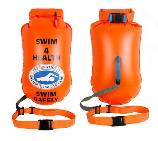 SafeSwimmer can save your life as well as carry your belongings. Best thing for open water swimming since goggles :). Review: http://blog.swimator.com/2011/03/swim-safety-device-review-swimming-safe_21.html