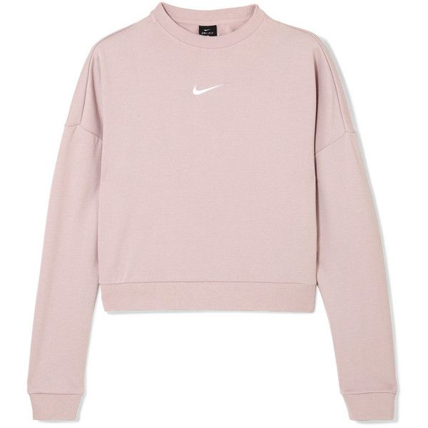 Nike Dry cropped cutout French terry sweatshirt ($49) ❤ liked on Polyvore featuring tops, hoodies, sweatshirts, french terry tops, nike, french terry sweatshirt, crop tops and cropped sweatshirt