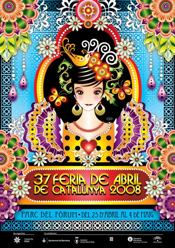 Catalina Estrada   Illustration for Barcelona´s April Festival hosted by Barcelona's City Council