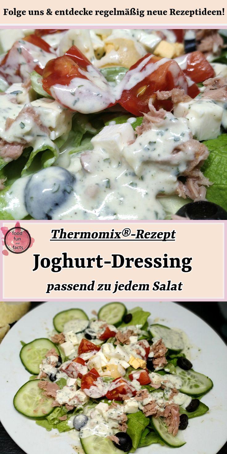 Dieses Joghurt Dressing Rezept Reicht Genau Fur Uns Zwei Aus So Wird Nichts Mehr Verschwendet Rezept Joghurtdressing Salatdressing Rezepte Thermomix Rezepte