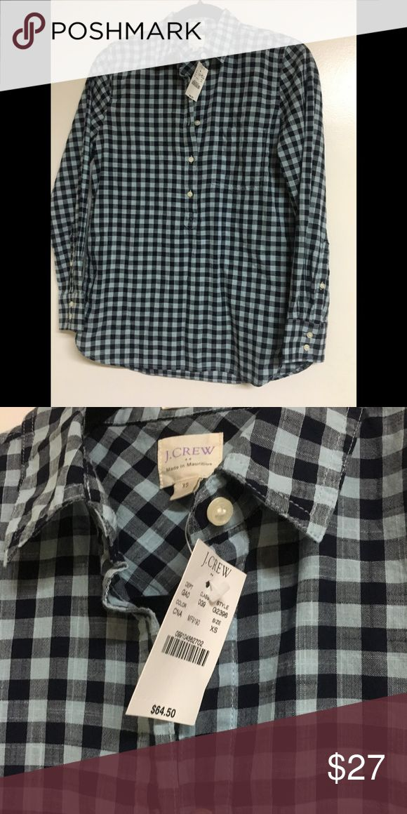 J Crew Boyfriend fit shirt Super cute NWT top. Great with jeans or leggings! J Crew Tops Blouses
