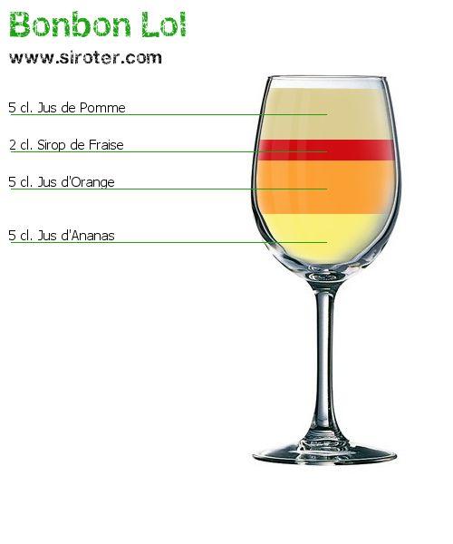 Recette Cocktail BONBON LOL