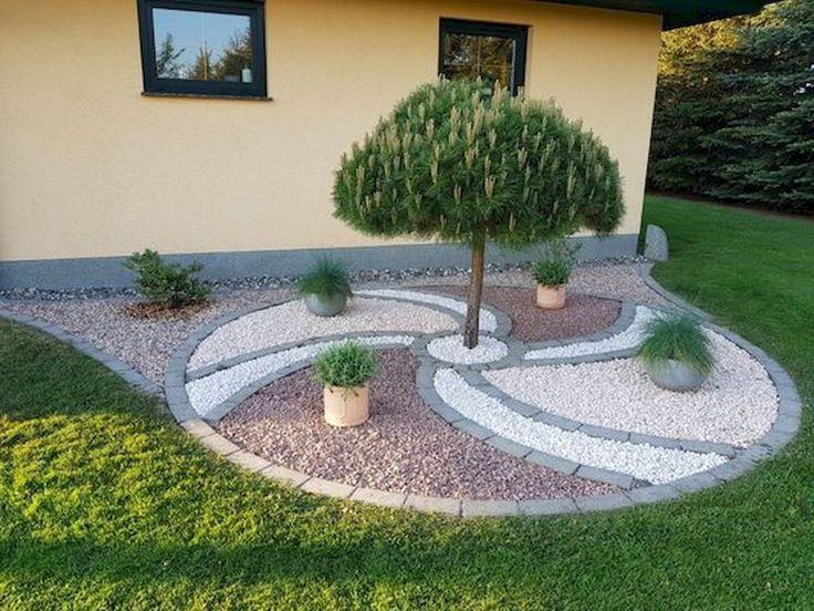 7 Schöne Garten- und Hinterhof-Kies-Garten-Design-Ideen , #design