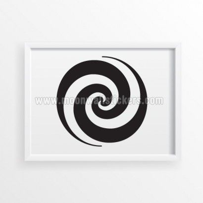 Spiral OpArt Poster - Moon Wall Stickers