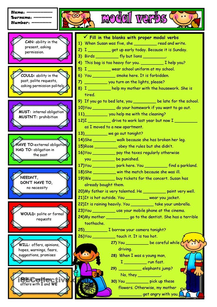 modals activity Modal verbs esl printable grammar worksheets, exercises, handouts, tests, activities, teaching and learning english resources, materials, explanations, information and rules for kids.