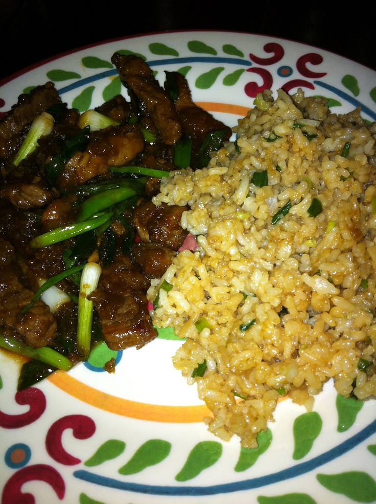 Homemade Mongolian Beef & Fried Rice :: a simple little kind of free :::