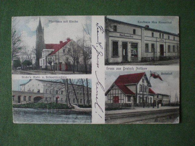 Nietkowice.Dt.Nettkow.Dworzec kolejowy.1907r. 724T