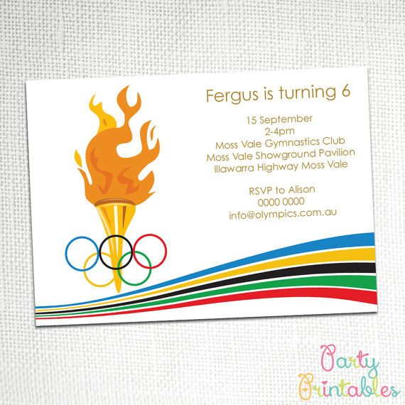 Olympic Party Invitation by PartyPrintablesAust on Etsy