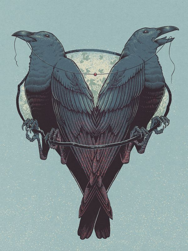 Love for Life by Brian Luong, via BehanceValentine'S Day, Brian Luong, Illustration, Blackbird Crows, Graphics Design, Ravens Crows Blackbird, Heart Design, Black Birds, Crows Ravens Blackbird