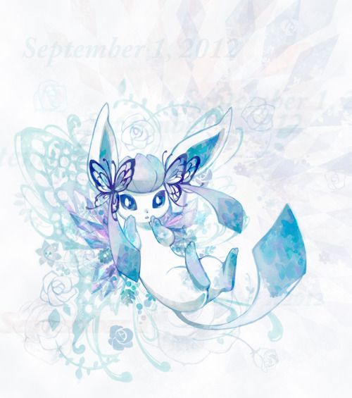 Glaceon!!! It has got to be like the cutest picture of glaceon (alone) ever!!!