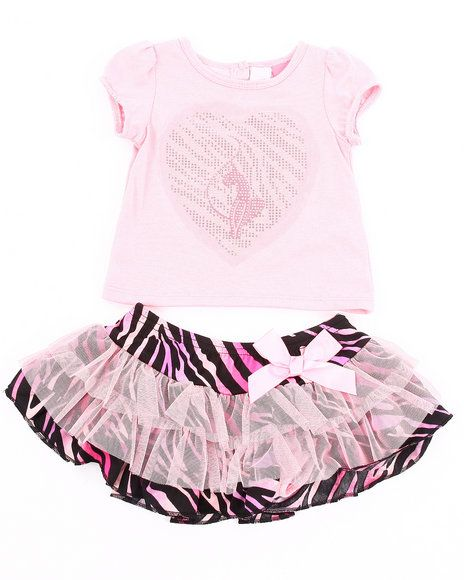 40.00 The 2 Piece Set - Tee & Zebra Print Tutu by Baby Phat features: Set consists of top and skirt