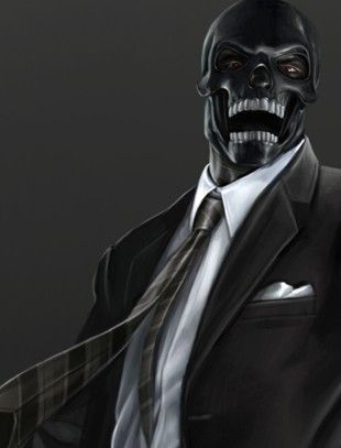 Black Mask's design is incredibly simple, but effective. Definitely a contender for a Halloween costume this year.