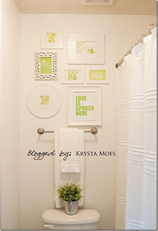 Kids bathroom doing this in the kids bathroom love it simple but makes a statement for - Simple kids bathroom ...