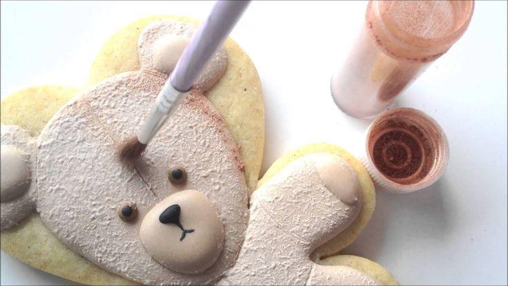 Cómo hacer un oso de peluche sobre una galleta usando glaseado real