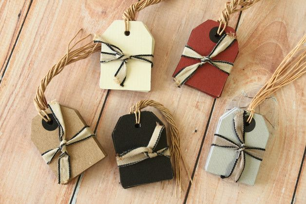 6pc classic apron shaped thick card tags WITH kraft brown paper twist string these are ready to use for customized stamped hang tags & price tags or even product labels and of course gift...