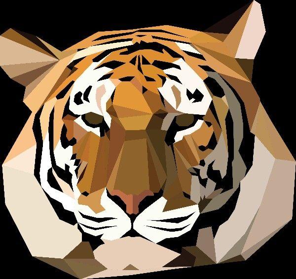 Geometric Tiger Tattoo