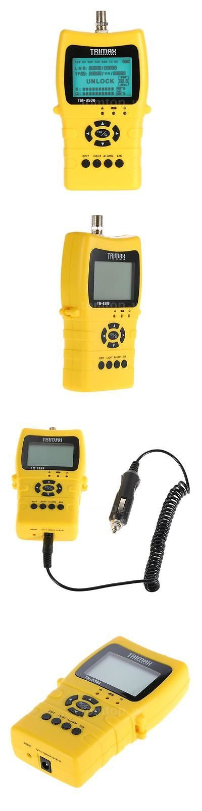 Signal Finders: Tm-8500 For Satellite Tv Signal Finder Lcd Dvb-S/ S2 Data Hd Digital Meter T0y5 BUY IT NOW ONLY: $63.95