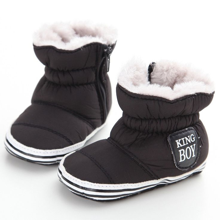 2016 New Baby Boy Snow Boots Worm Fleece Winter Navy Infant Boot Toddler Shoes Soft Prewalker Shoe First Walkers H0774
