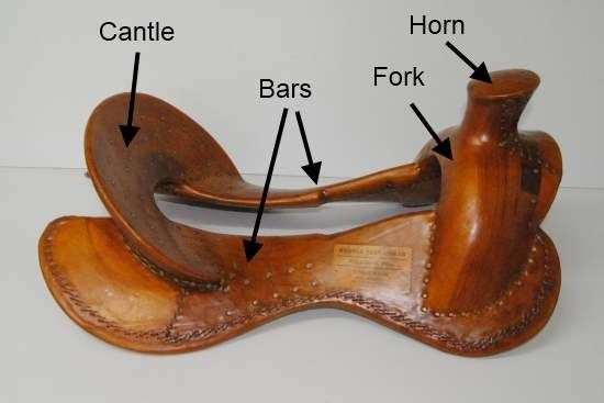 Parts of a western saddle tree /  What do Quarter Horse, Semi-Quarter Horse and Full Quarter Horse bars mean?