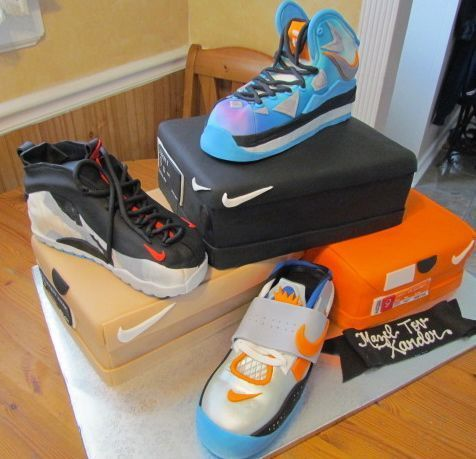 Multi Nike Sneaker Themed Cake Cake Of The Week 5