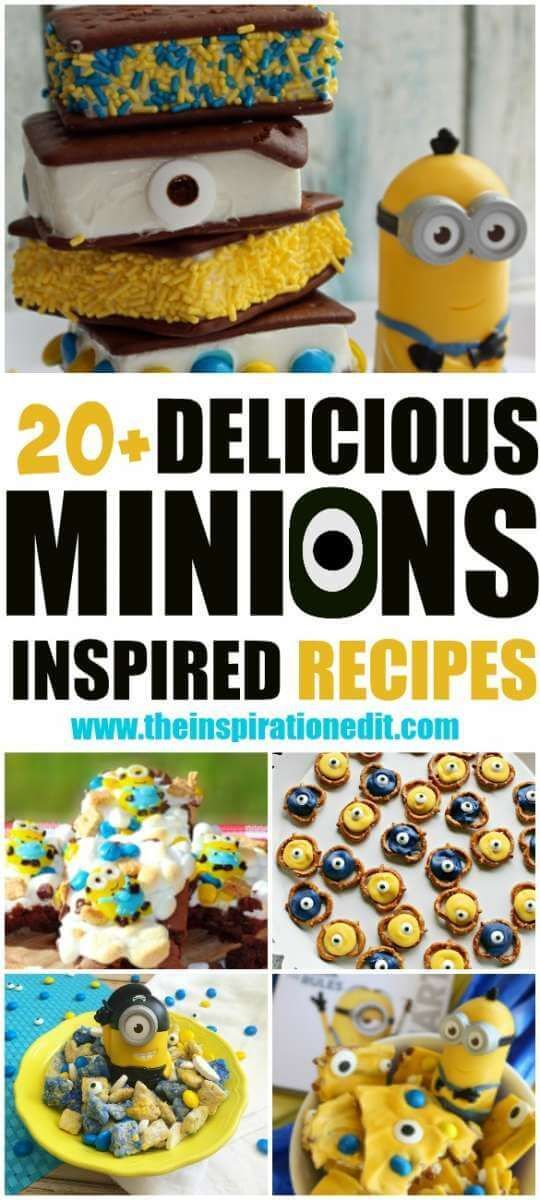Minions party food ideas Recipes that are Minion themed. Fun party food recipes for kids.