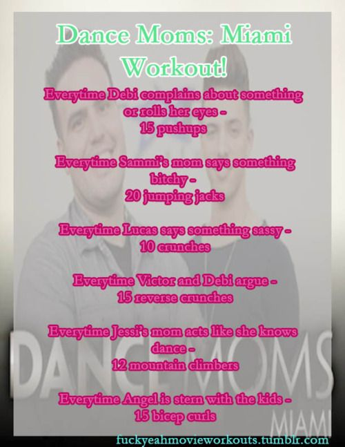 The Dance Moms: Miami Workout!