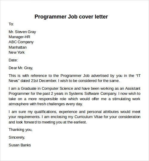 Sample Programmer Cover Letter: 25+ Best Cover Letter For Job Ideas On Pinterest