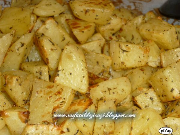 Cartofi cu mustar si usturoi
