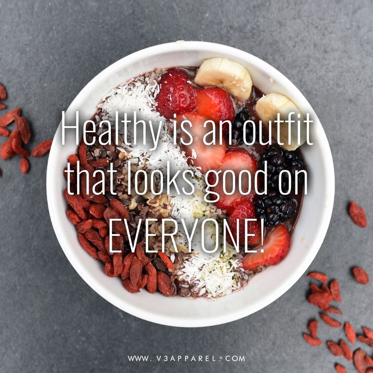 Diet and weight loss motivation and inspirational quotes for men and women - healthy is an outfit that looks good on everyone! // Free Motivational Posters to help you keep on track @ www.V3Apparel.com for more! // Diet, weight loss & clean eating inspo