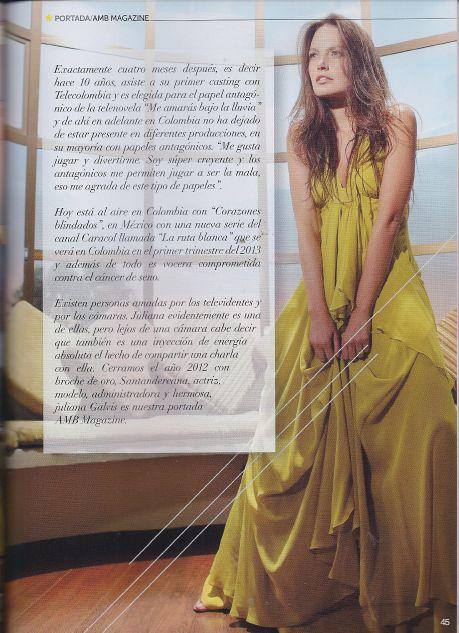 Juliana Galvis en AMB Magazine
