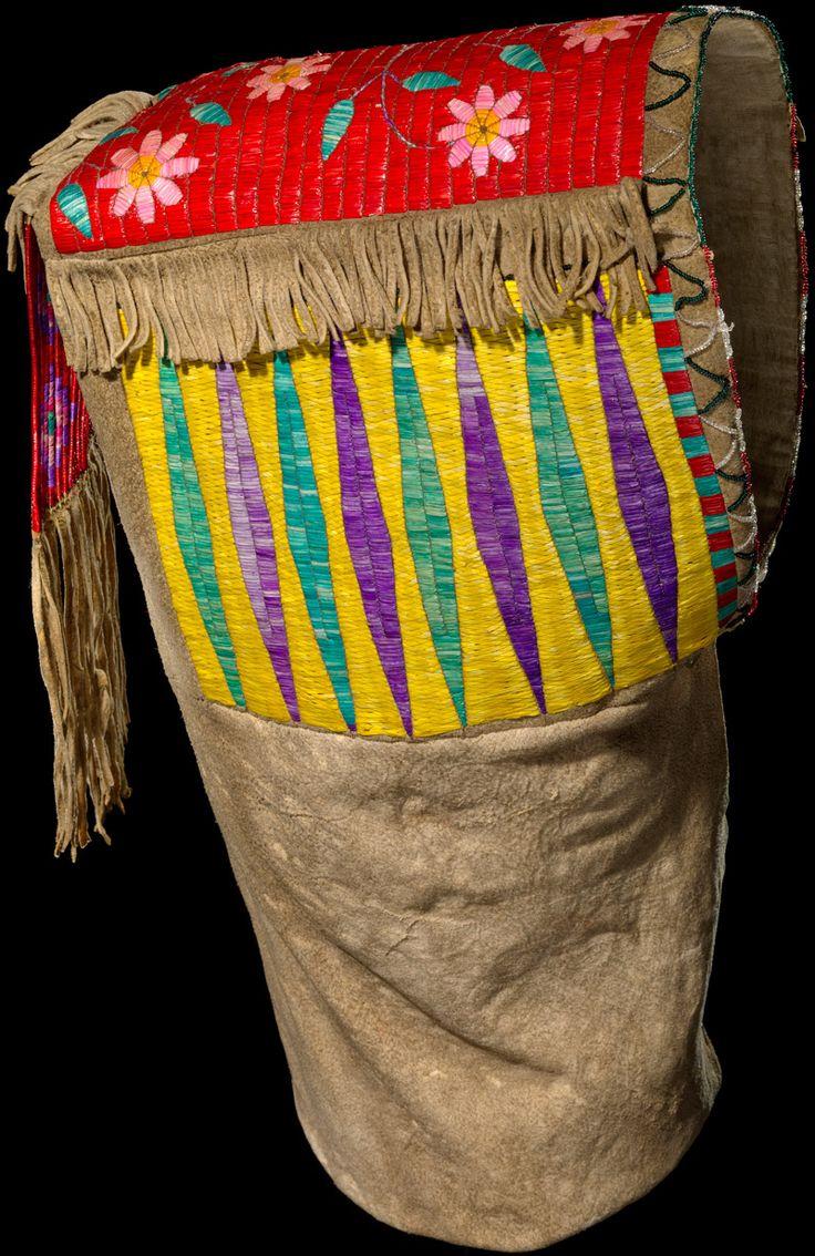 Sahnish (Arikara) baby carrier  ca. 1880American Indian, Cradleboards