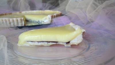 Meyer Lemon Tart with a Layer of Chocolate