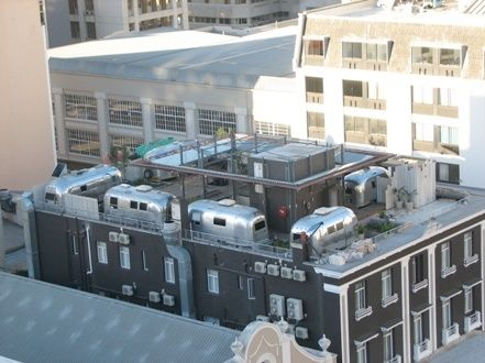 Airstream Penthouse Park in Cape Town, South Africa...I'd vacation here just to stay in one of these gorgeous vintage, remodeled Airstreams!
