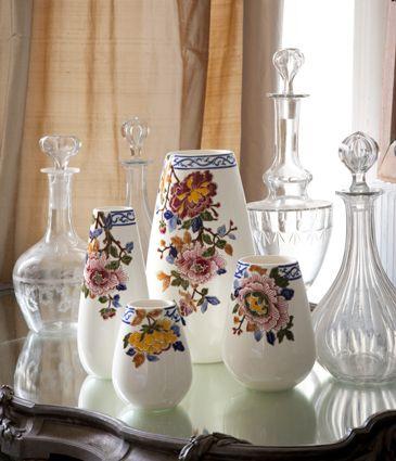 "Zastawa stołowa - Faïencerie de Gien - ""Collection Pivoines"""