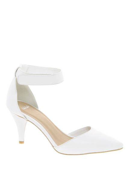 SHOP THE NEW HEEL HEIGHT Gone are dizzying stiletto heights. Plan on slipping into heels on the south side of three inches this spring. WHITE ASOS Sonic Pointed Heels, $ 54.26; asos.com